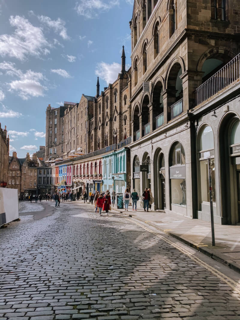image of Victoria Street - one of the top things to do in Edinburgh