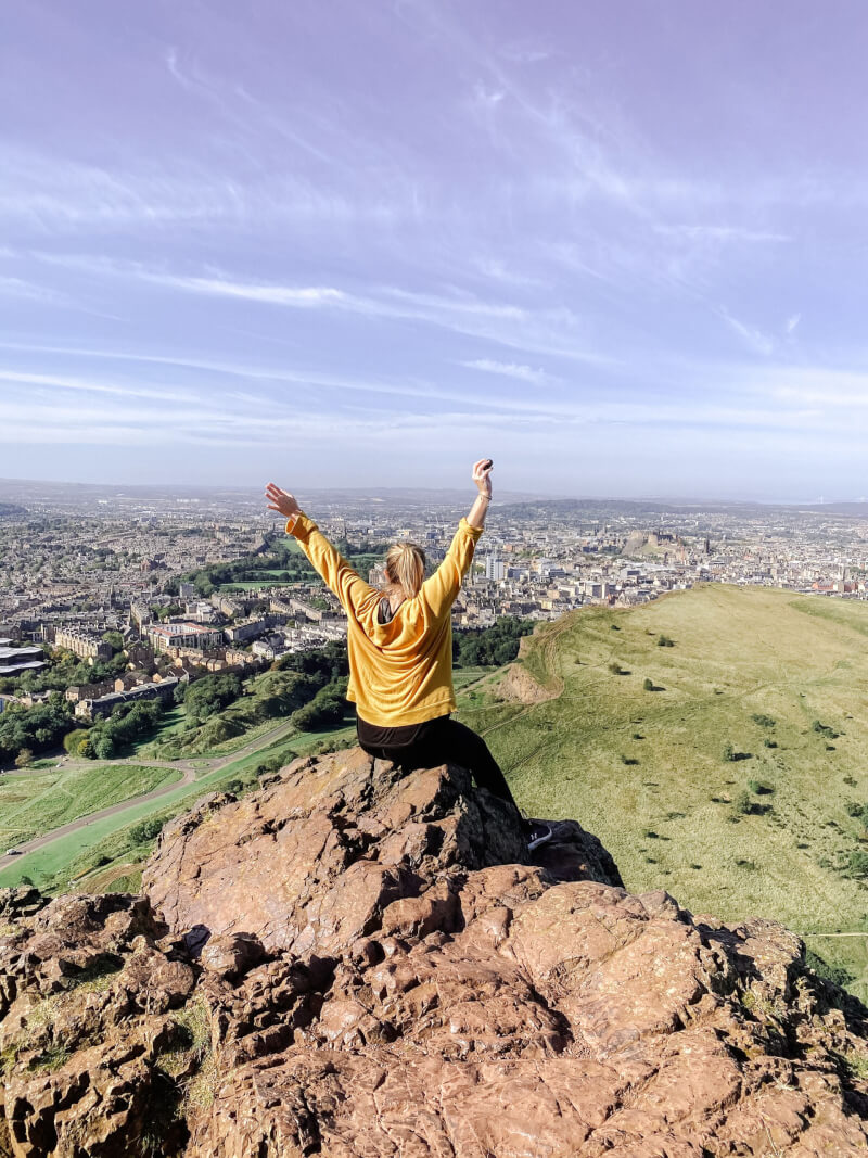 Image of the view from the top of Arthur's Seat, Edinburgh