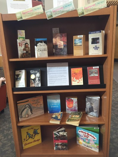 Country Hills Freedom to Read display