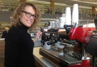 Lisa's got a latte for you at Hacienda Coffee....