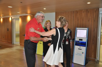 Wayne Buchholtz and Premier Kathleen Wynne know each other from their days of working in education.