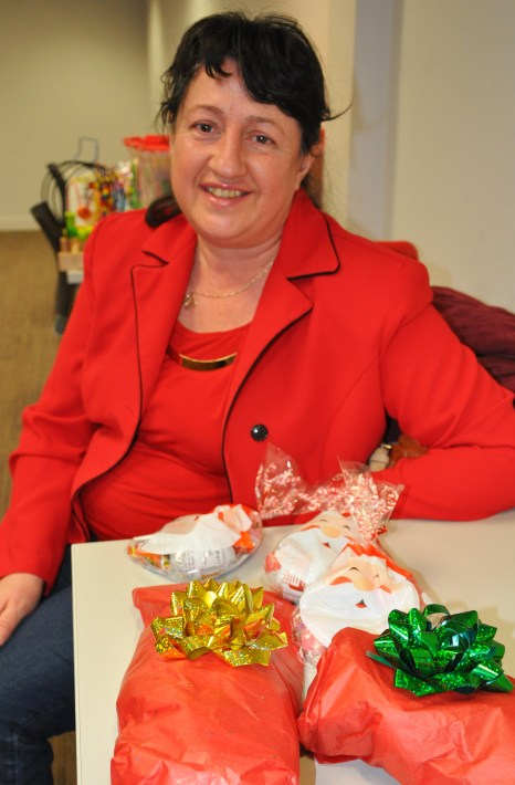 Child minder Diana brought wrapped gifts for all the children.