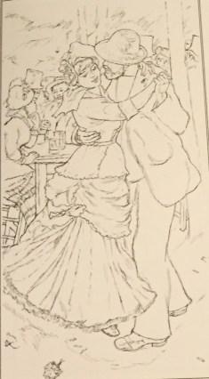 Pierre-Auguste Renoir Coloring Sheet