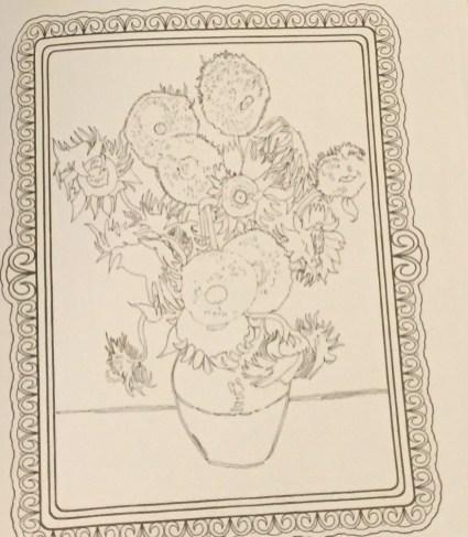 Van Gogh Coloring Sheet