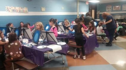 painting night with the girl scouts