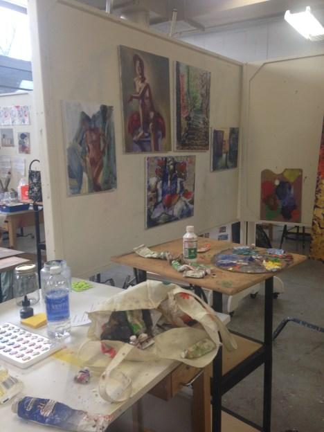 inside of my studio