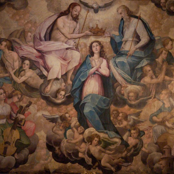 San Pedro, Parish Church, Coronation of the Virgin