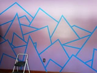 wall with tape