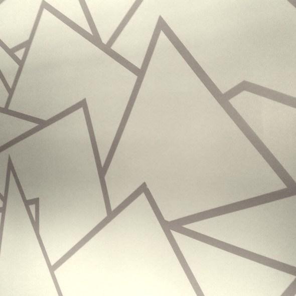 Wall with geometric design