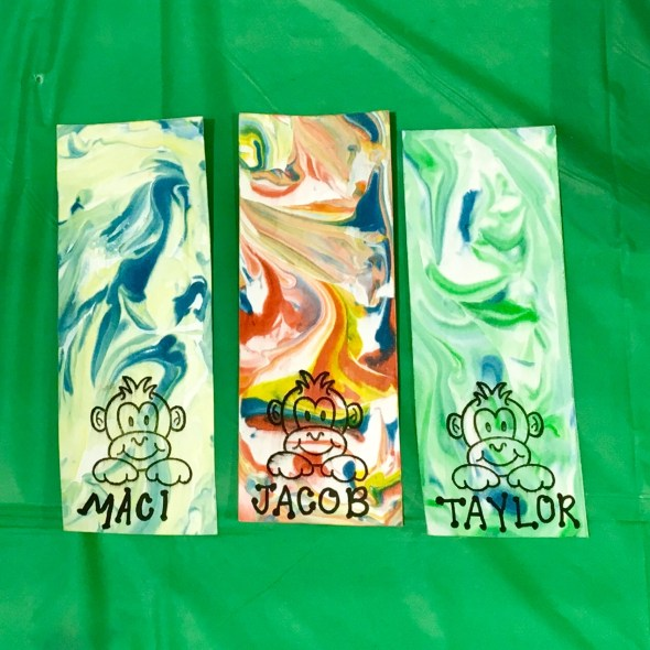 marbled bookmarks