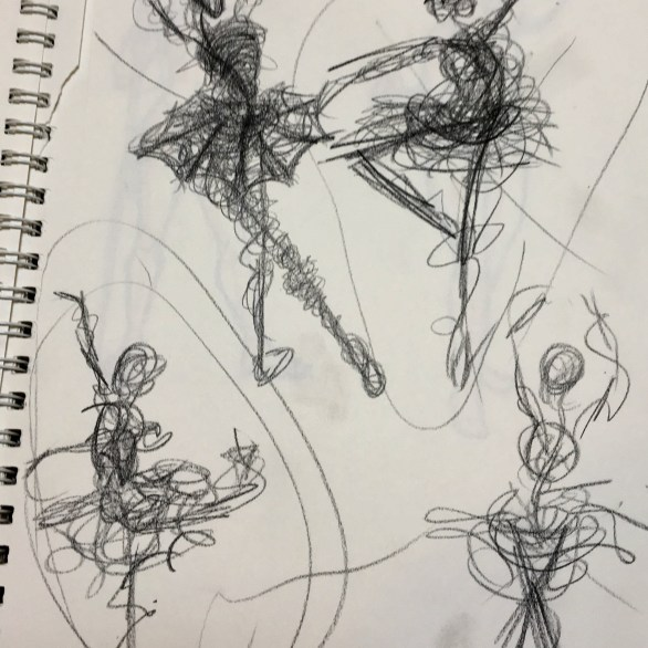 quick sketches of dancers