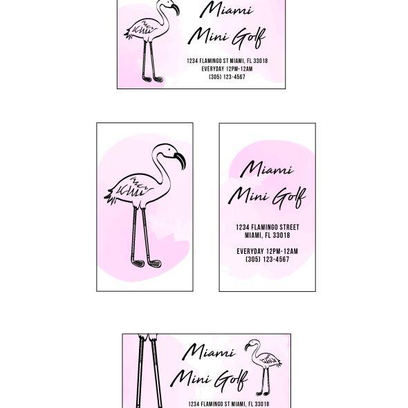 Miami Mini Golf Business Cards