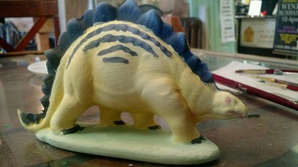 Painted dinosaur ceramic