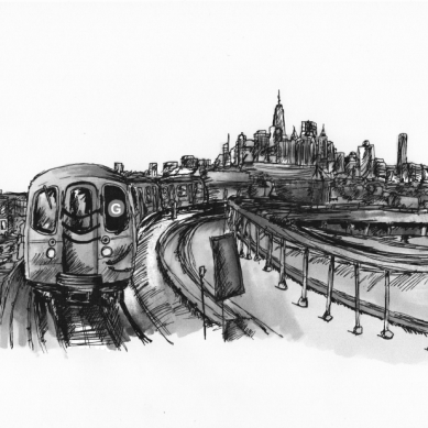 sketch of a train