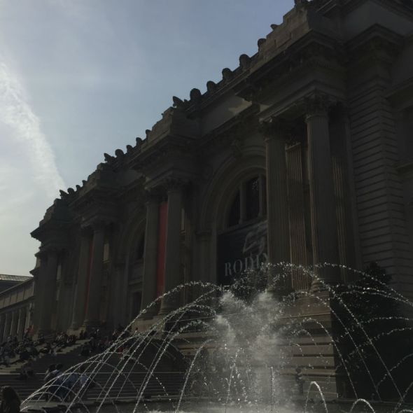 fountain in front of museum