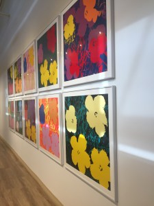 Andy Warhol colorful flower prints