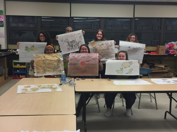 Club Members were happy to share their pieces!