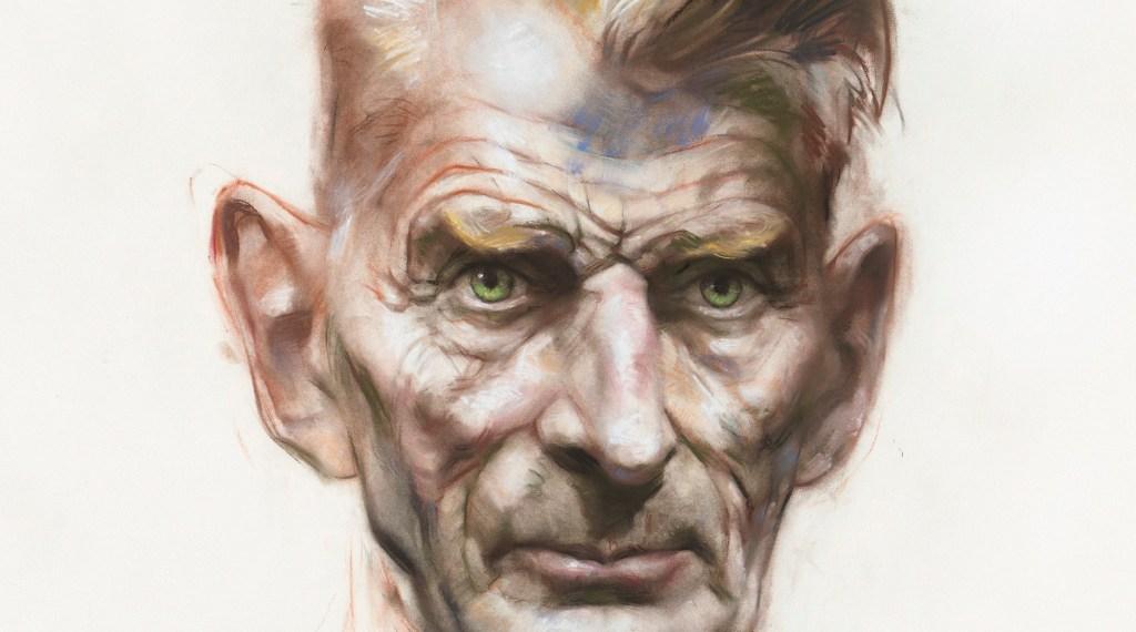 Samuel Beckett, pastel on paper