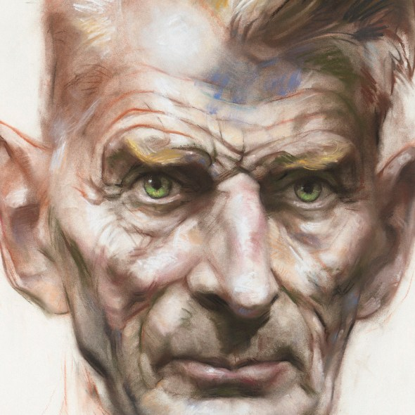 Samuel Beckett, pastel on paper