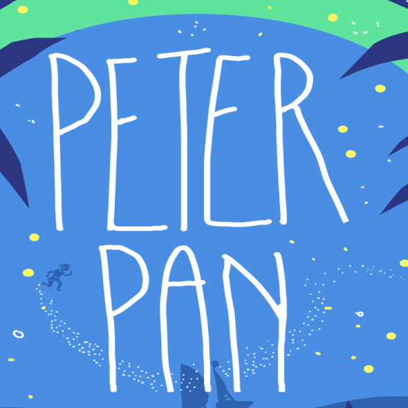 Close up of peter pan cover design