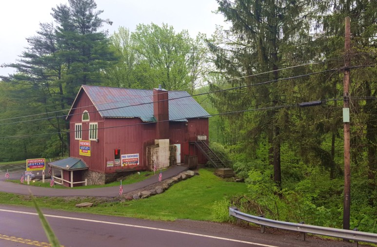 a fireworks barn in the poconos