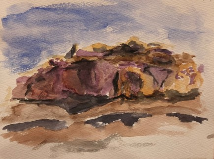 Watercolor Capitol Reef