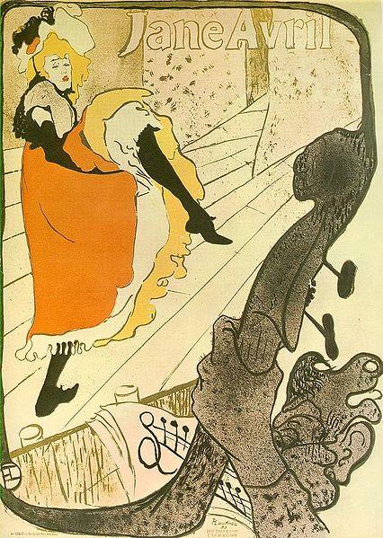 Toulouse-Lautrec, Jane Avril, 1893