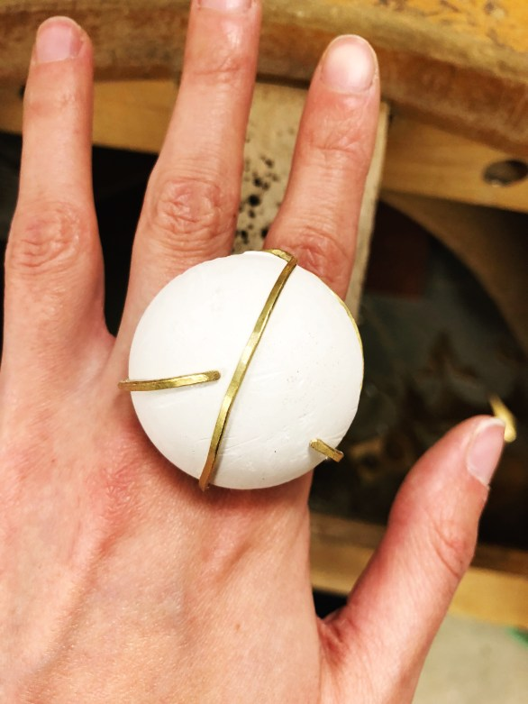 Sibio, Wrapped Ring on Hand