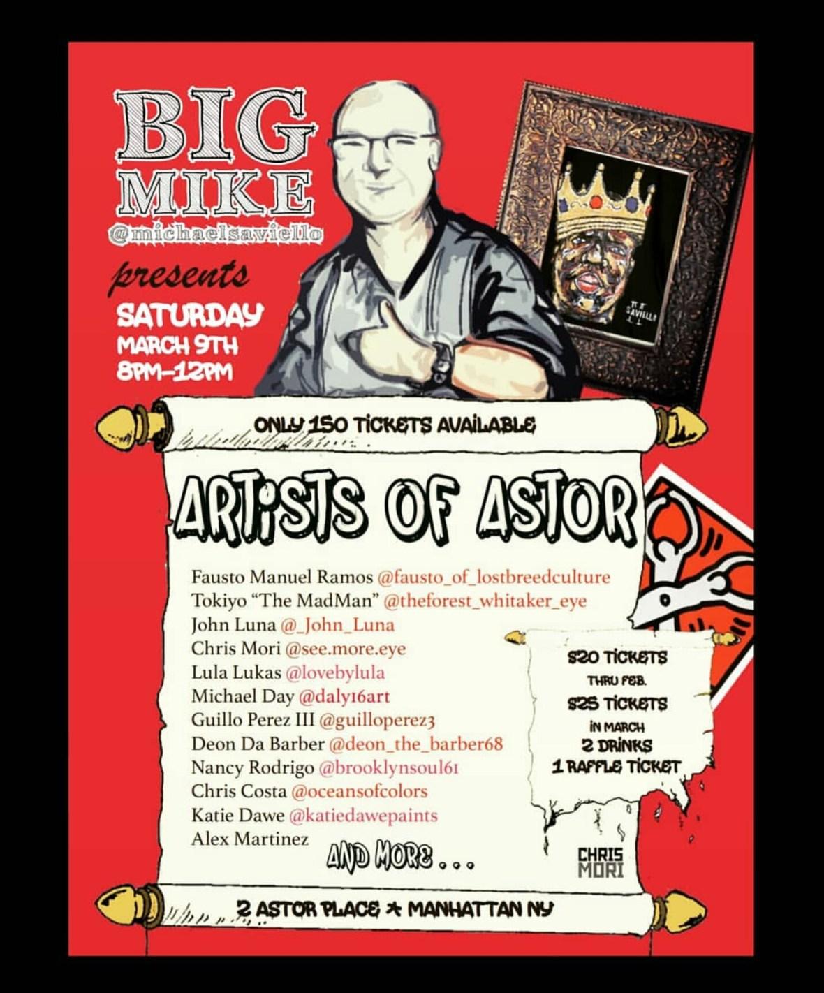 Artists Of Astor Poster
