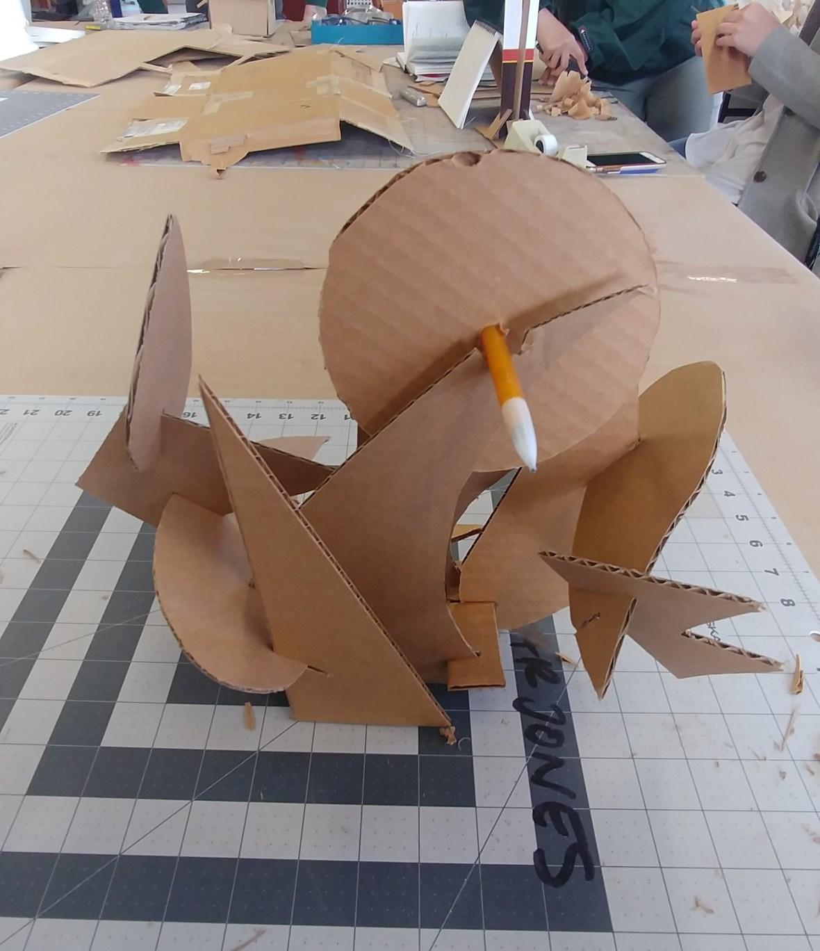 Cardboard Model Front