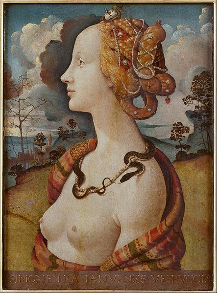 Piero di Cosimo, Portrait de femme dit de Simonetta Vespucci, 1490