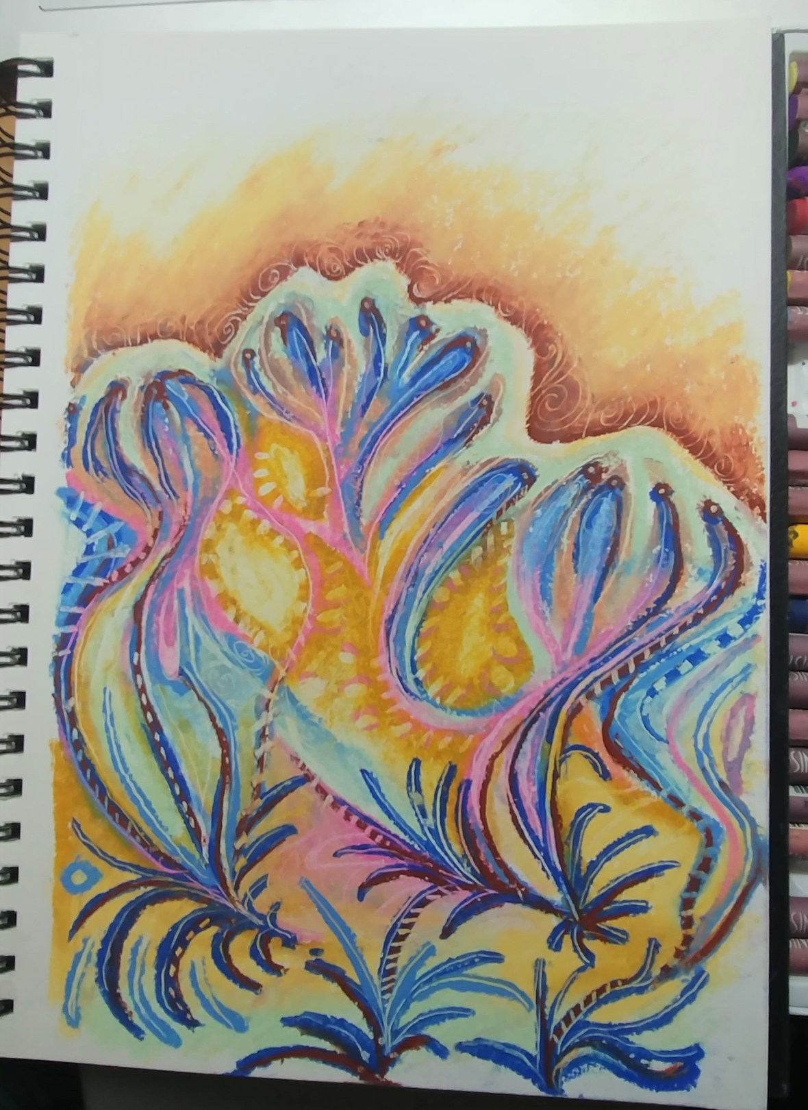 abstract sketchbook page