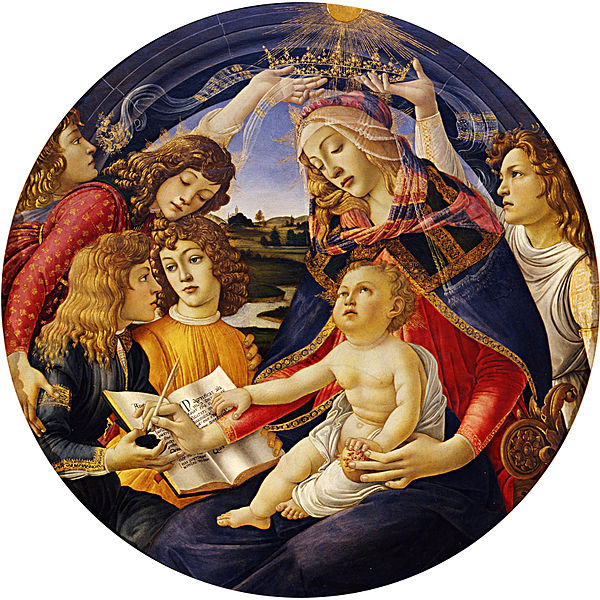 Botticelli, Madonna of the Magnificent, 1482-5