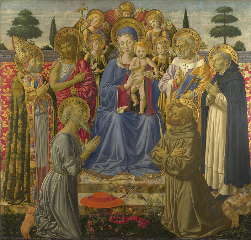 Gozzoli, The Virgin and Child Enthroned among Angels and Saints, 1447-50