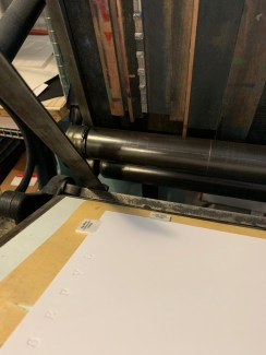 Working the letterpress