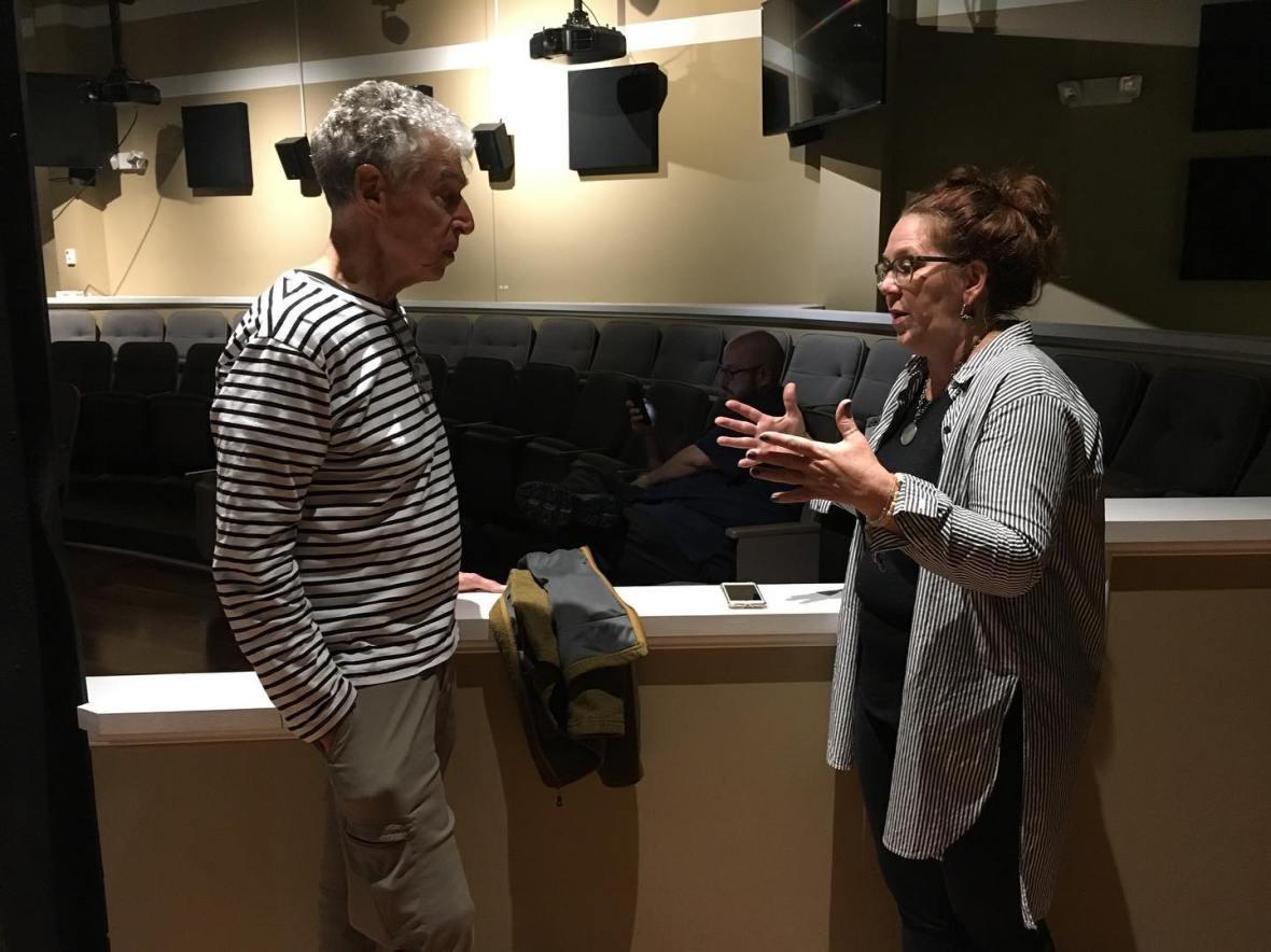 Nikki Moser and Richard Ross talking