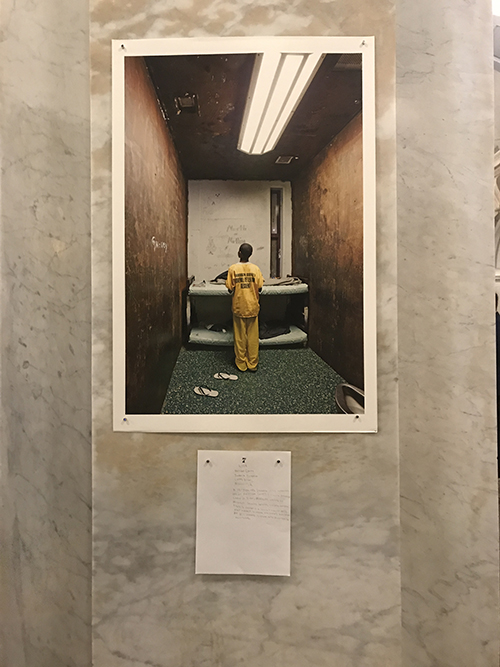 Child in isolation cell
