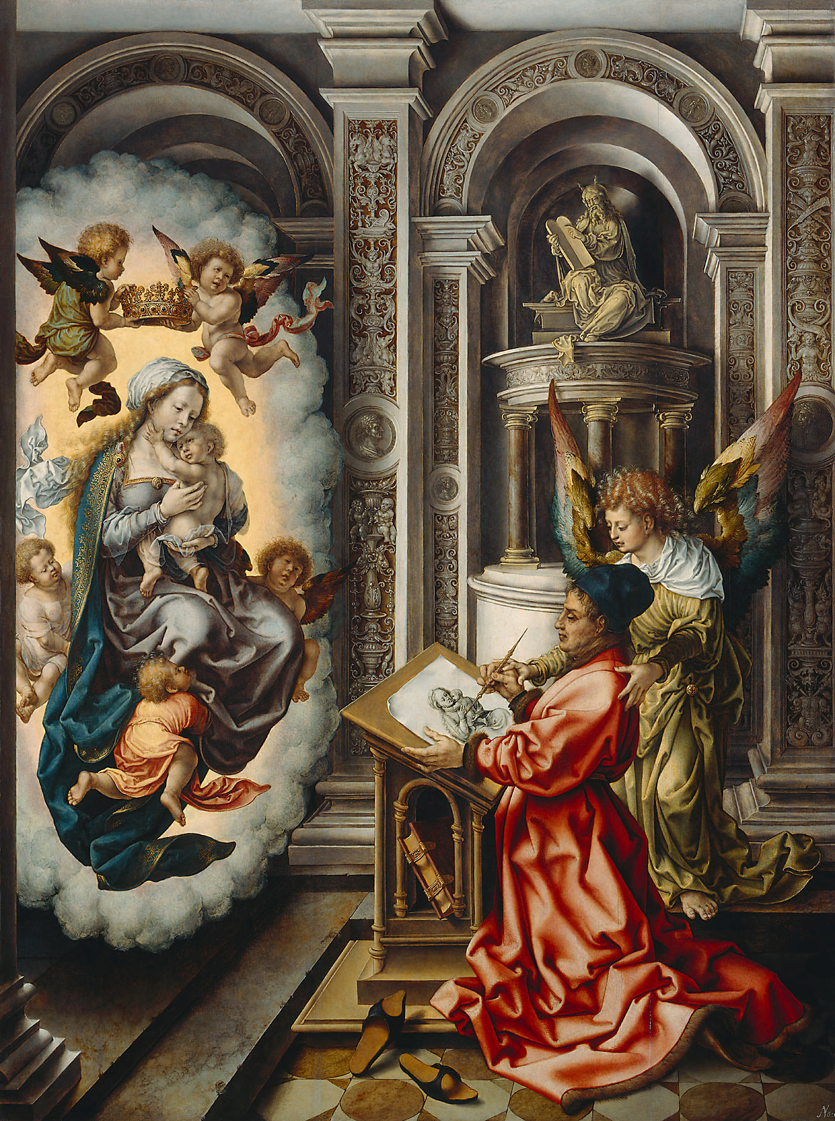 St. Luke Painting the Madonna created in 1520-5