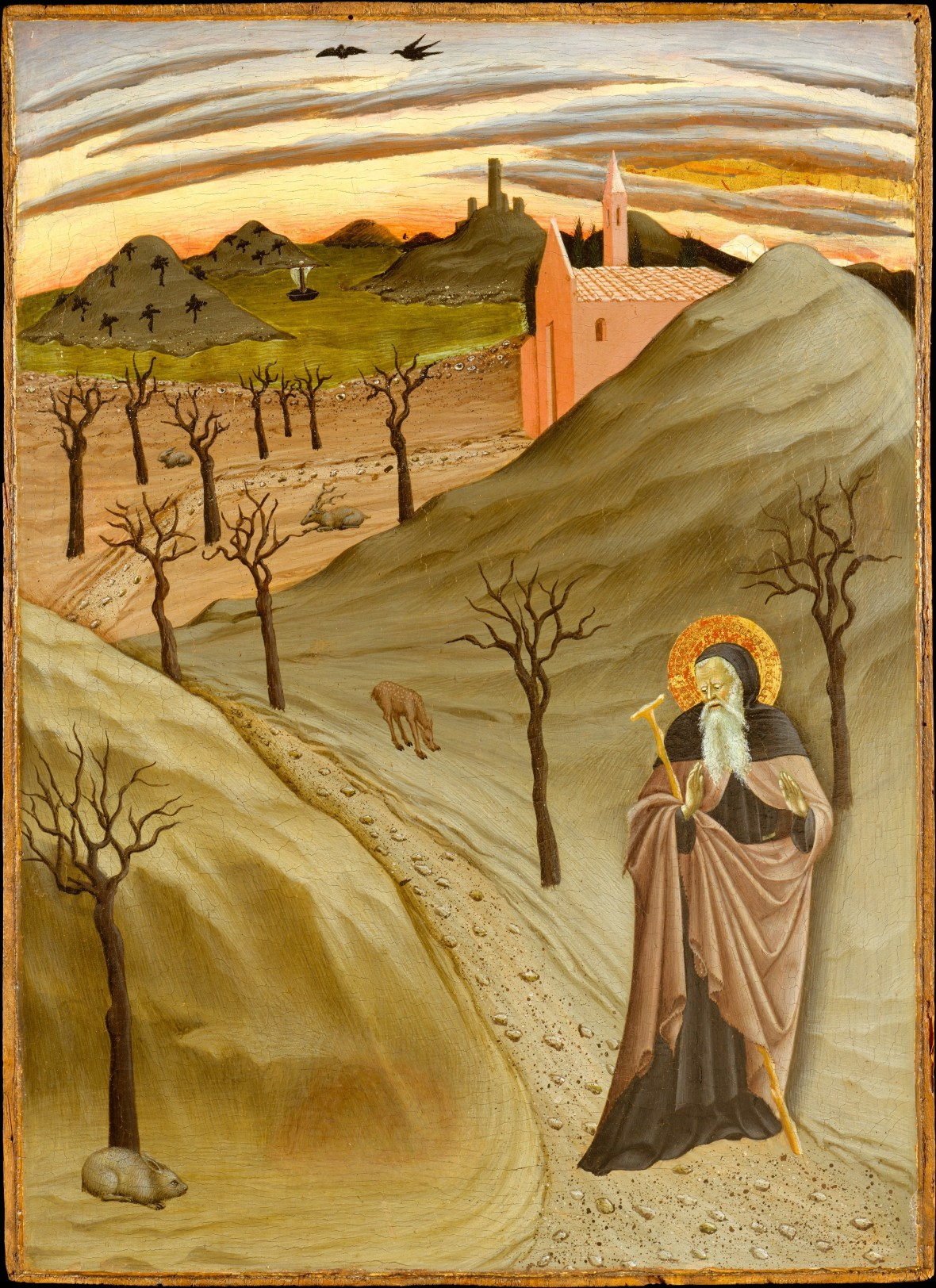 Osservanza Master, Saint Anthony the Abbot in the Wilderness, 1435