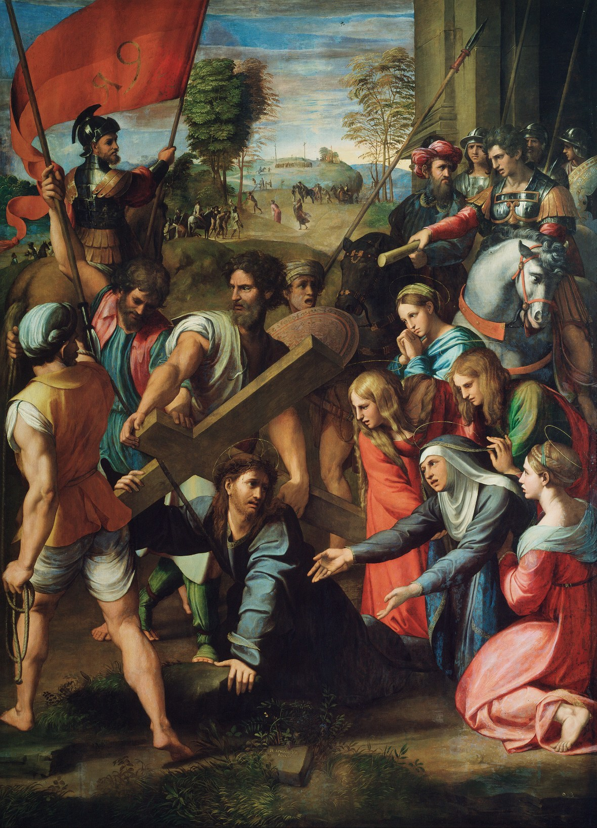 Raphael, Christ Falling on the Way to Calvary, 1516.