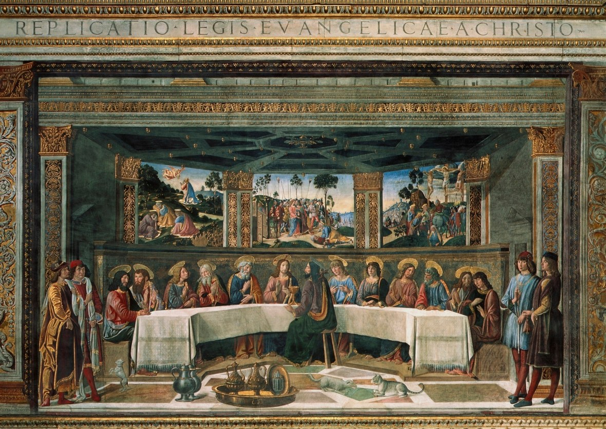 Cosimo Rosselli and Biagio d'Antonio, Last Supper, 1481 and 1482