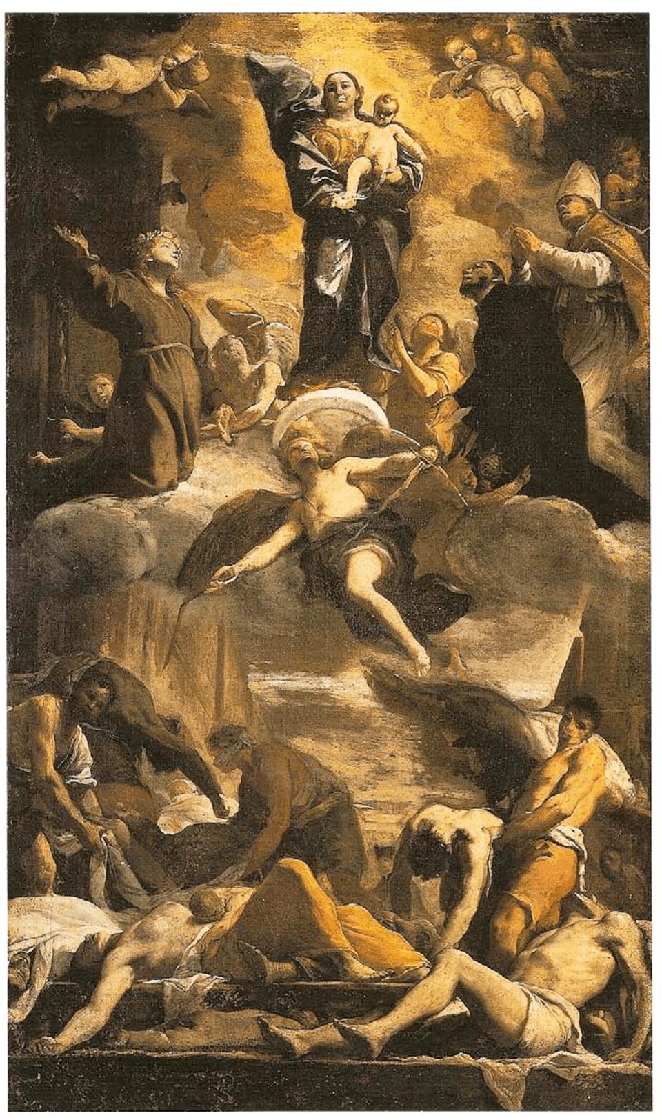 Mattia Preti, The Immaculate Conception with Saints, 1657.