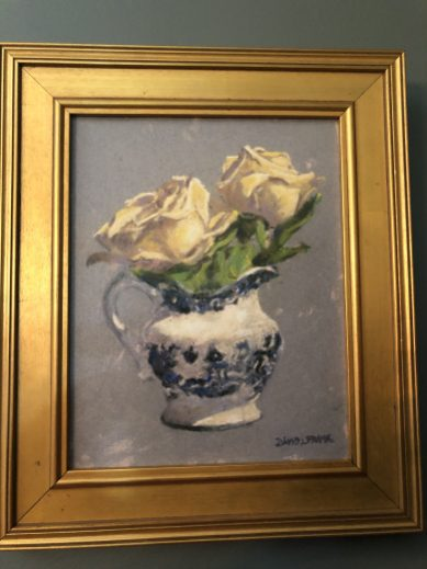 White Roses in a Pitcher
