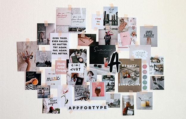 Photo of a mood board