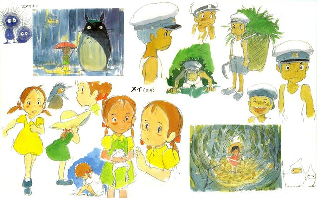 Concept Art for characters of My Neighbor Totoro