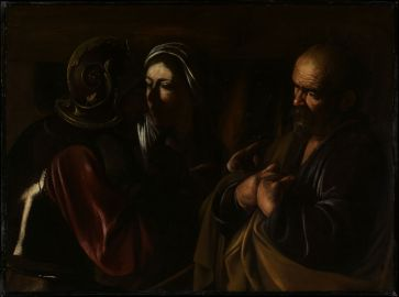 Caravaggio, The Denial of St. Peter, 1610
