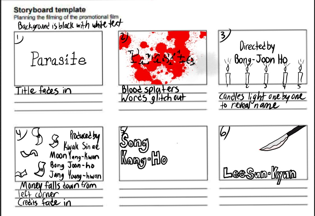 Parasite Storyboard
