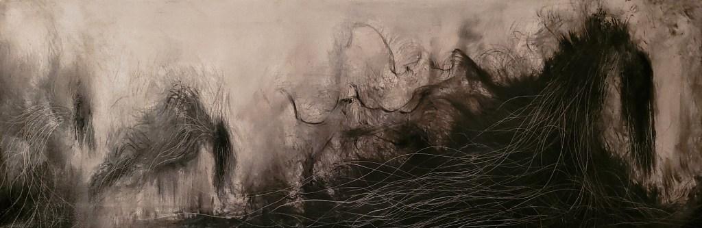 Tumnus Moran NonObjective Black and White Painting