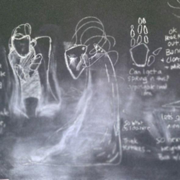 Tumnus Moran Chalkboard Sketches Featured