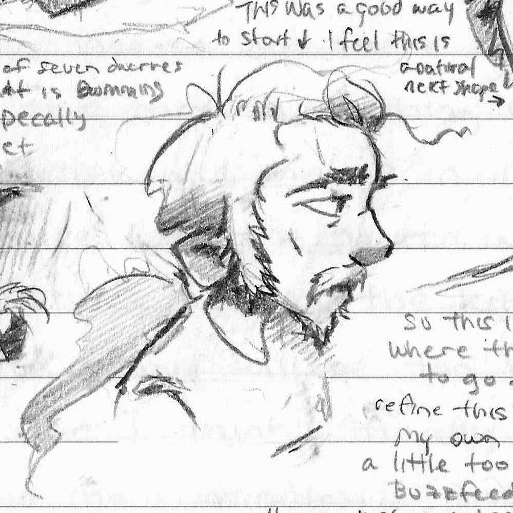 Tumnus Moran Character Sketch Michal 3